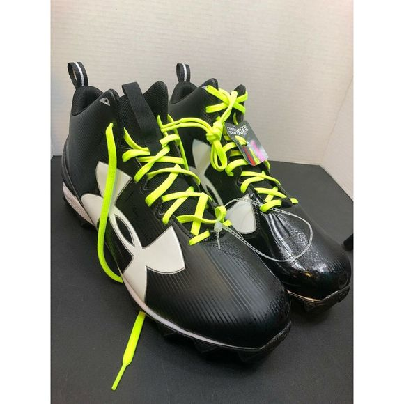 Green//Black Cleats - Used Men/'s Multiple Sizes Under Armour
